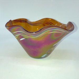 Glass Eye Art Studio, Hand Blown Glass Bowl